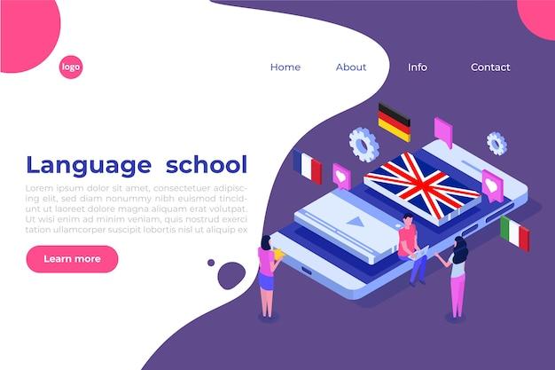 Szkoła językowa, nauka online. tłumacz izometryczny.