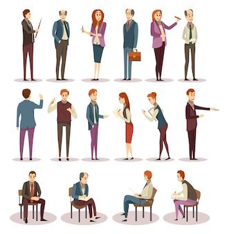 Szkolenia biznesowe i zestaw ikon coachingu