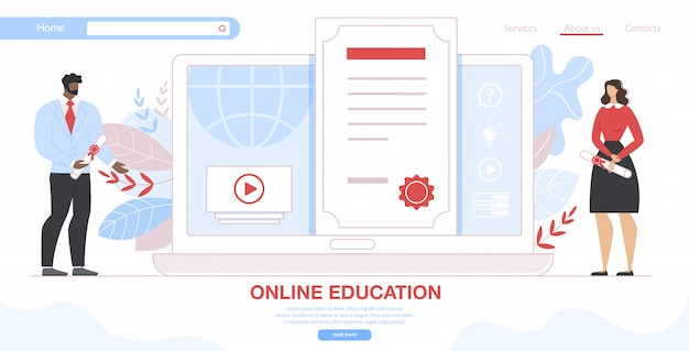 Szkolenia online, szablon strony internetowej specjalizacji przekwalifikowania