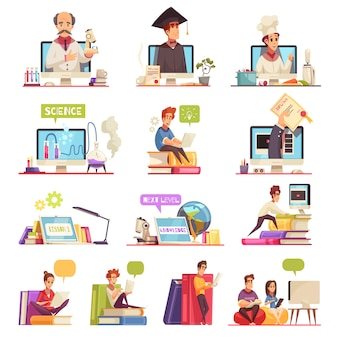 Szkolenie wideo do nauki online wsparcie oficjalne kursy uniwersyteckie kwalifikacje dyplom 13 zestawów kreskówek