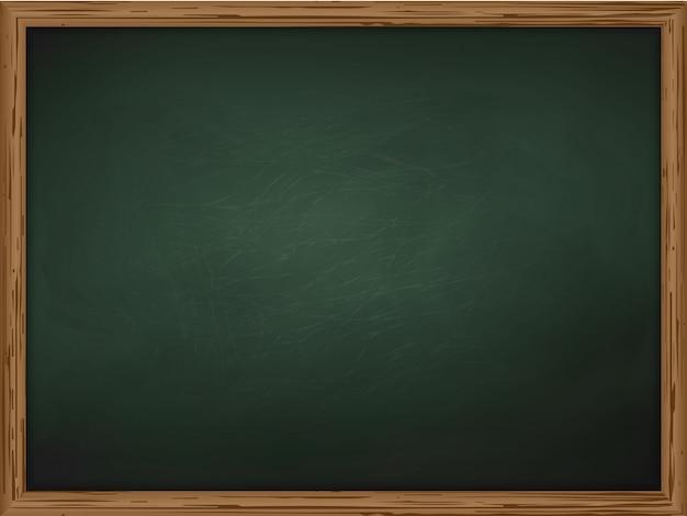 Szkolna chalkboard tła tekstura z ramowym wektorem