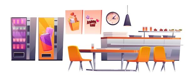 Szkolna kawiarnia, stołówka szkolna, jadalnia