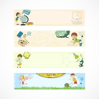 Szkolne transparenty edukacyjne dla dzieci