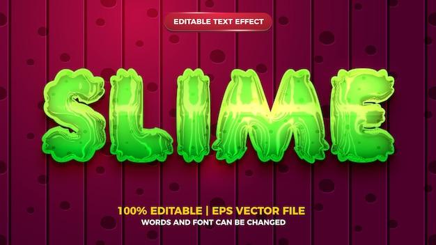 Szlamowy, edytowalny efekt tekstowy w płynnym stylu gry kreskówkowej