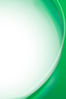 Szmaragdowo-zielony szablon ramki krzywej