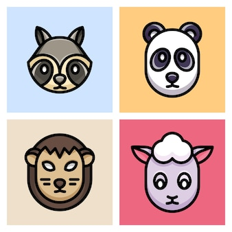 Szop pracz, panda, łuskowiec i owca