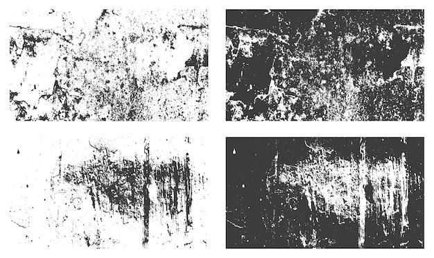 Szorstki zakłopotany grunge tekstury tła wektor zestaw