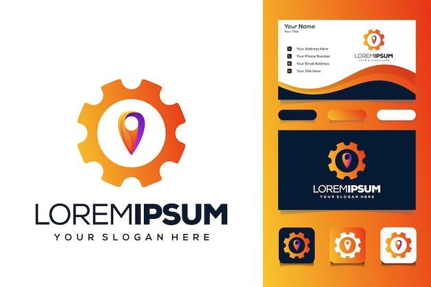 Szpilka zębata logo projekt wizytówki