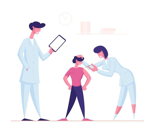 Szpital dla dzieci w celu przeprowadzenia procedury szczepień i szczepień.