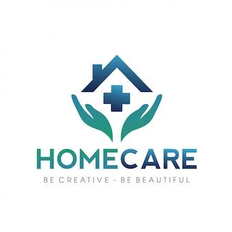 Szpital, klinika, logo opieki rodzinnej