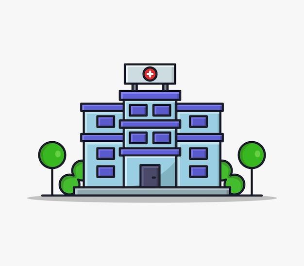 Szpital zilustrowany w kreskówce