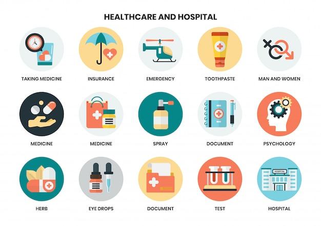 Szpitalne ikony ustawiać dla biznesu