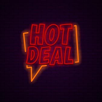 Sztandar gorącej oferty