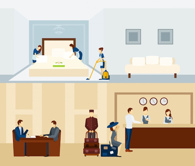 Sztandar hotelu personel