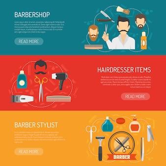 Sztandar poziomy barber