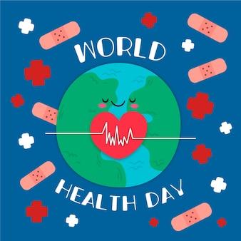 Sztandar światowego dnia zdrowia