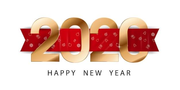 Sztandar szczęśliwego nowego roku 2020