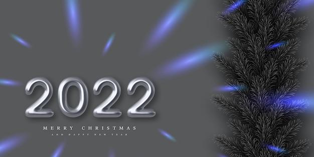 Sztandar szczęśliwego nowego roku 2022.