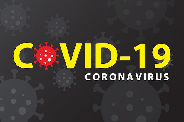 Sztandar wybuchu pandemii koronawirusa covid-19. zostań w domu, koncepcja kwarantanny.