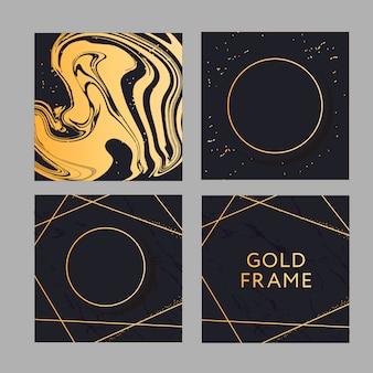 Sztandar z grafiką wektorową ze złotym wzorem mody