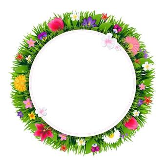 Sztandar z kwiatami