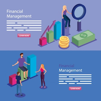 Sztandar zarządzania finansami z ludźmi