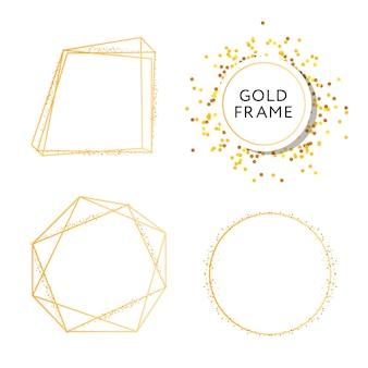 Sztandar ze sztuką wektorową ze złotym wzorem