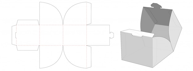 Sztaplowane pudełko do pakowania sztancowane szablon
