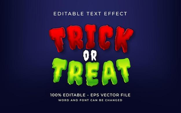 Sztuczka lub psikus w stylu halloween efekt tekstowy edytowalny efekt tekstowy