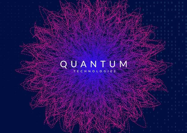 Sztuczna inteligencja. abstrakcyjne tło. technologia cyfrowa, koncepcja głębokiego uczenia się i dużych zbiorów danych. wizualizacja techniczna dla szablonu informacji. geometryczne tło sztucznej inteligencji.
