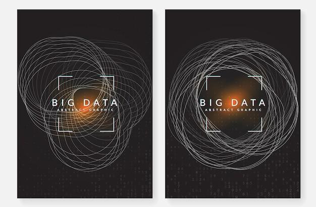 Sztuczna inteligencja. abstrakcyjne tło. technologia cyfrowa, koncepcja głębokiego uczenia się i dużych zbiorów danych. wizualizacja techniczna szablonu ekranu. geometryczne tło sztucznej inteligencji.
