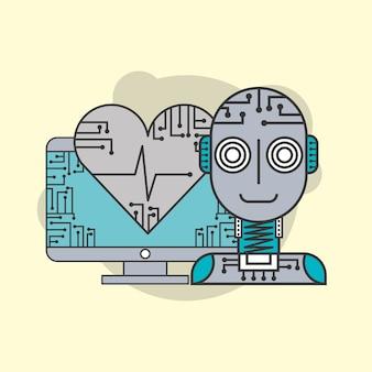 Sztuczna inteligencja robot futurystyczny mechanizm zdrowy