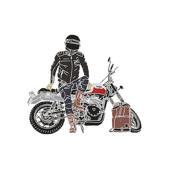 Sztuka ilustracji motocykl