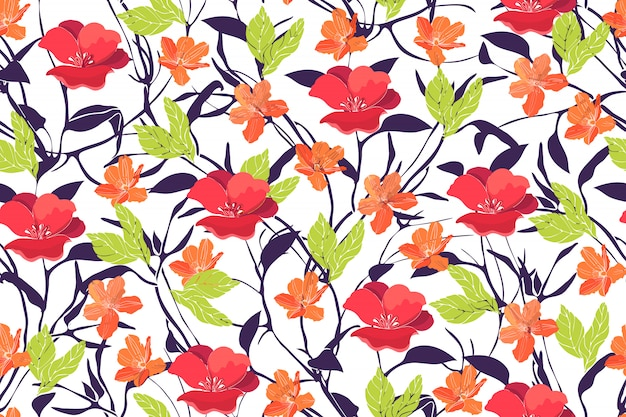 Sztuka kwiatowy wektor wzór