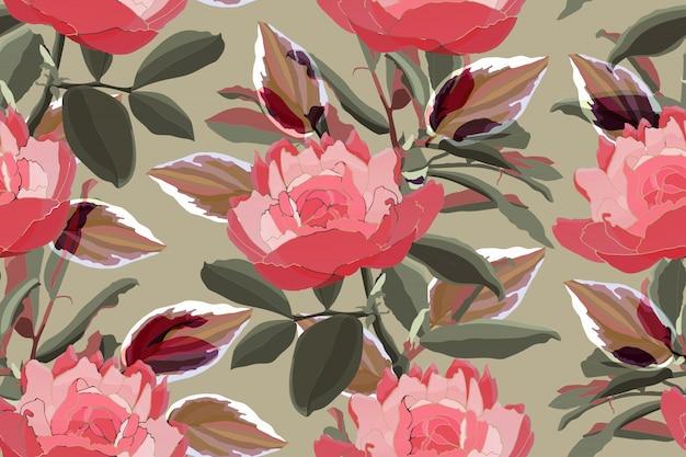 Sztuka kwiatowy wzór.
