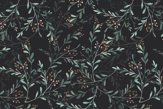 Sztuka kwiatu w obrazie tapety w stylu akwareli w botanicznym bezszwowym wzorze
