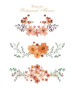 Sztuka kwiatu w stylu przypominającym akwarele w kwiatach botanicznych