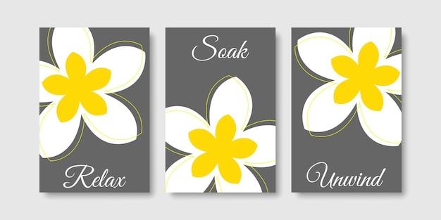 Sztuka łazienkowa zrelaksuj się i zrelaksuj z kwiatem frangipani