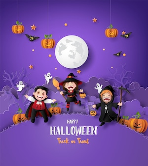 Sztuka papieru happy halloween