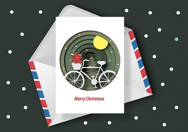 Sztuka papieru kartki świąteczne