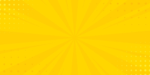 Sztuka pop-artu żółte tło. ilustracja wektorowa transparent