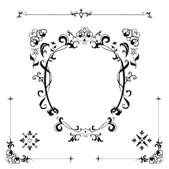 Sztuka rozkwitać ornament rama wektor