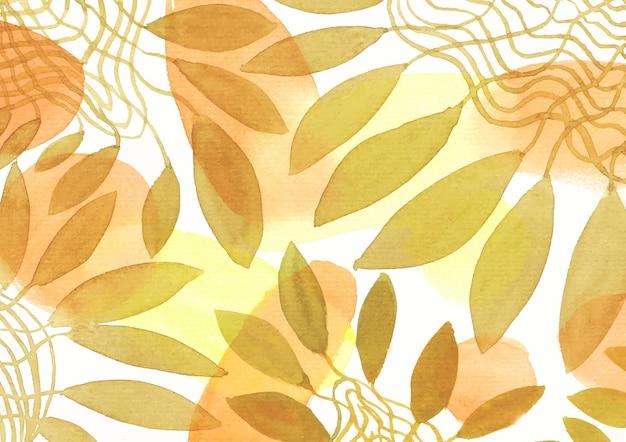 Sztuka tła liści