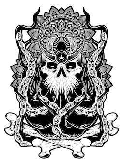 Sztuka twarzy ośmiornicy