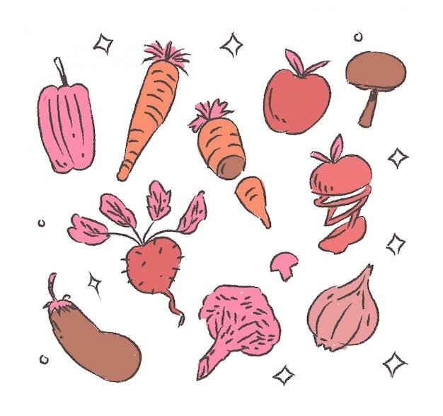 Sztuka warzywna doodle warzyw