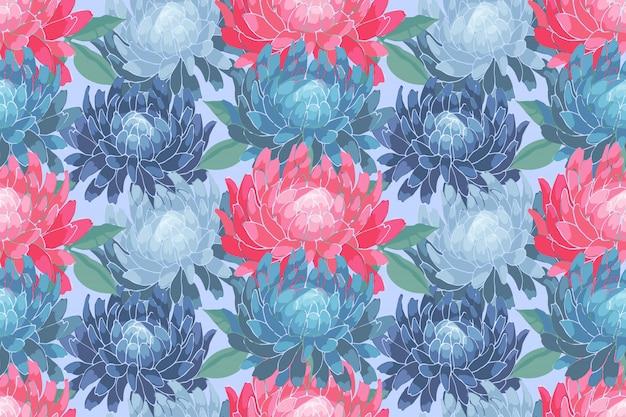 Sztuka wektor kwiatowy wzór