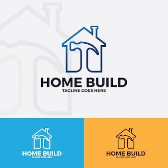 Sztuka wektor logo domu