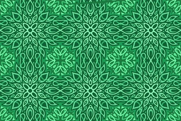 Sztuka z abstrakcyjnym wzorem z liści