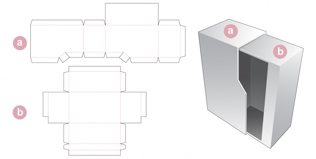 Sztywne pudełko wycinane szablonem