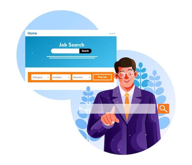 Szukaj wolnych miejsc pracy poprzez stronę internetową